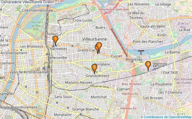 plan Camaraderie Villeurbanne Associations Camaraderie Villeurbanne : 6 associations
