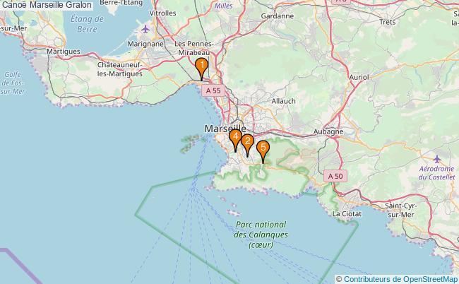 plan Canoë Marseille Associations canoë Marseille : 5 associations