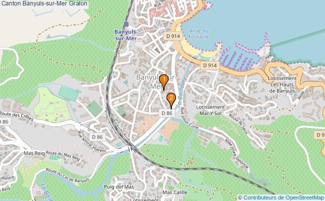 plan Canton Banyuls-sur-Mer Associations canton Banyuls-sur-Mer : 2 associations