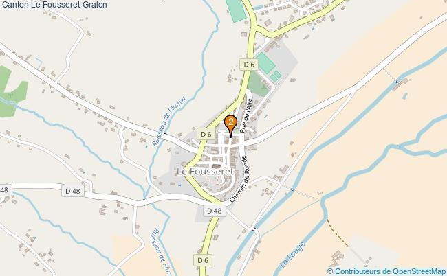 plan Canton Le Fousseret Associations canton Le Fousseret : 2 associations