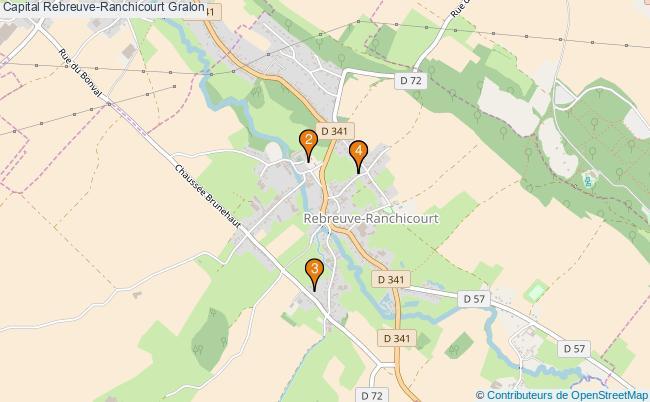 plan Capital Rebreuve-Ranchicourt Associations capital Rebreuve-Ranchicourt : 4 associations