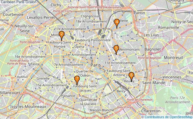 plan Caribéen Paris Associations caribéen Paris : 8 associations