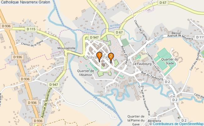 plan Catholique Navarrenx Associations catholique Navarrenx : 2 associations