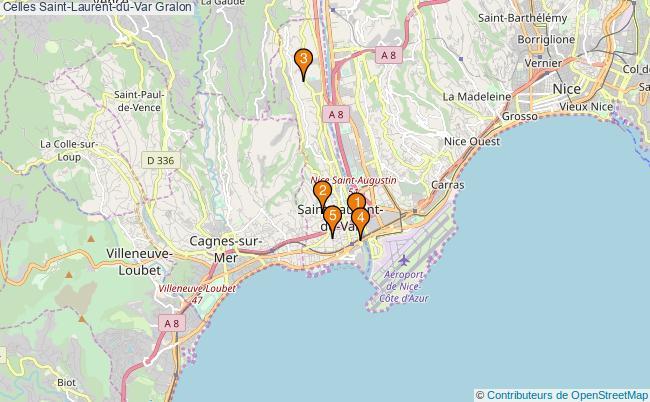 plan Celles Saint-Laurent-du-Var Associations Celles Saint-Laurent-du-Var : 4 associations