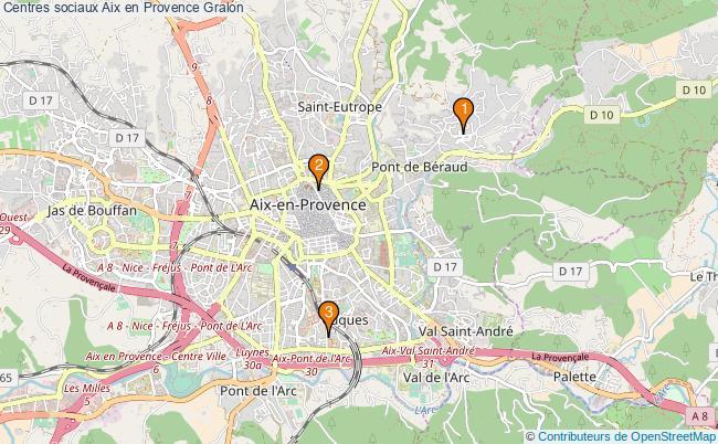 plan Centres sociaux Aix en Provence Associations centres sociaux Aix en Provence : 2 associations