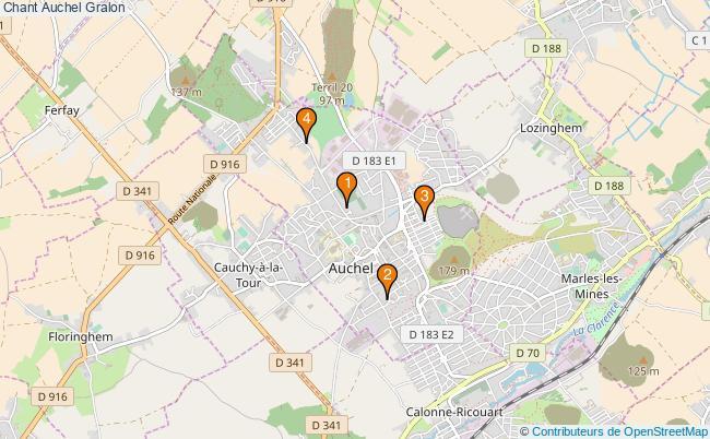 plan Chant Auchel Associations chant Auchel : 4 associations