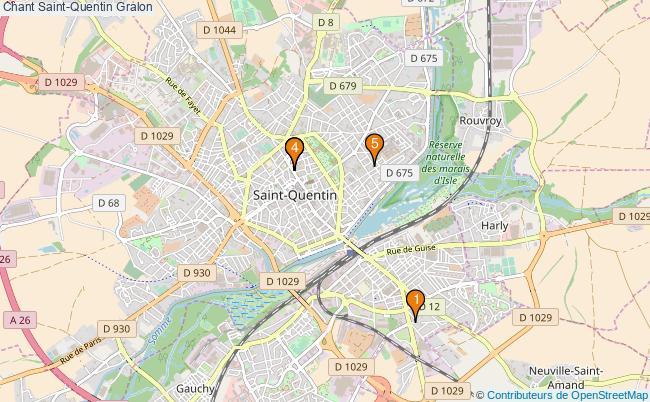 plan Chant Saint-Quentin Associations chant Saint-Quentin : 5 associations