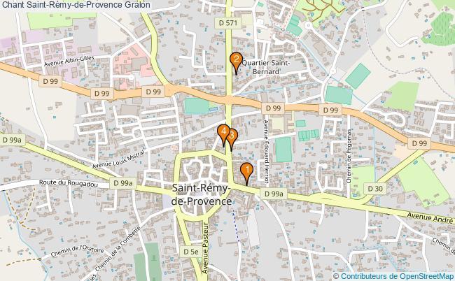 plan Chant Saint-Rémy-de-Provence Associations chant Saint-Rémy-de-Provence : 4 associations