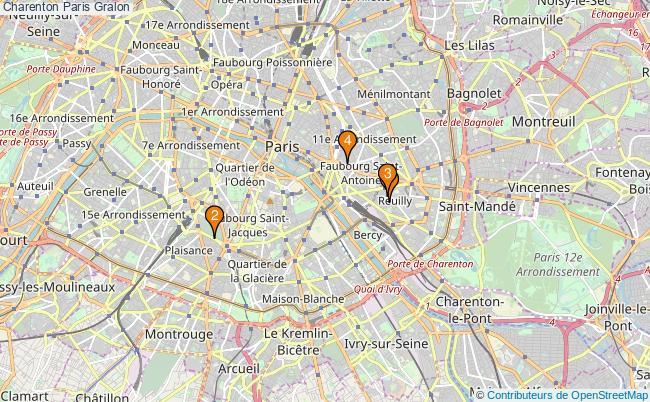 plan Charenton Paris Associations Charenton Paris : 5 associations