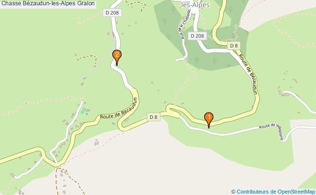 plan Chasse Bézaudun-les-Alpes Associations chasse Bézaudun-les-Alpes : 2 associations