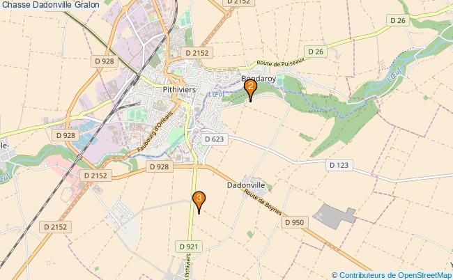 plan Chasse Dadonville Associations chasse Dadonville : 3 associations