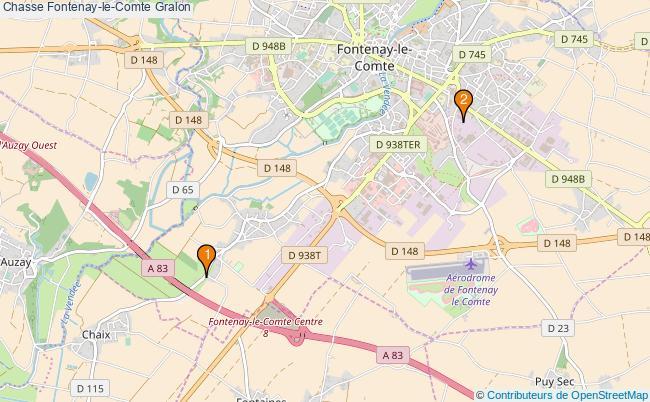 plan Chasse Fontenay-le-Comte Associations chasse Fontenay-le-Comte : 2 associations