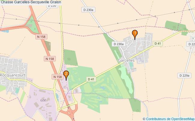 plan Chasse Garcelles-Secqueville Associations chasse Garcelles-Secqueville : 2 associations
