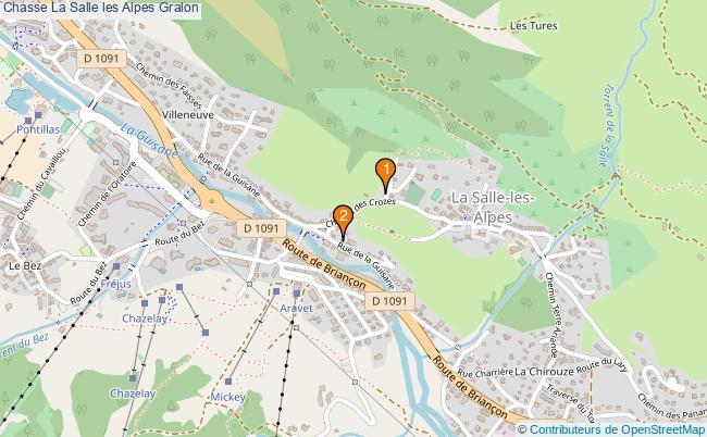 plan Chasse La Salle les Alpes Associations chasse La Salle les Alpes : 2 associations
