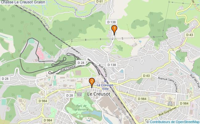 plan Chasse Le Creusot Associations chasse Le Creusot : 2 associations