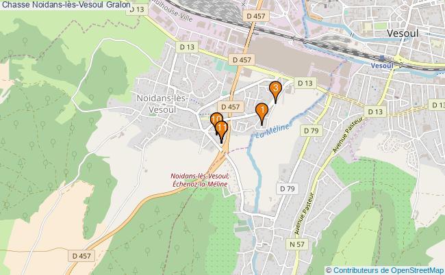 plan Chasse Noidans-lès-Vesoul Associations chasse Noidans-lès-Vesoul : 12 associations