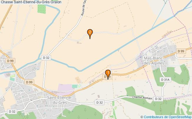 plan Chasse Saint-Etienne-du-Grès Associations chasse Saint-Etienne-du-Grès : 2 associations
