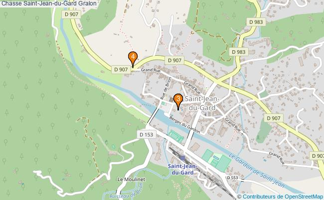 plan Chasse Saint-Jean-du-Gard Associations chasse Saint-Jean-du-Gard : 4 associations