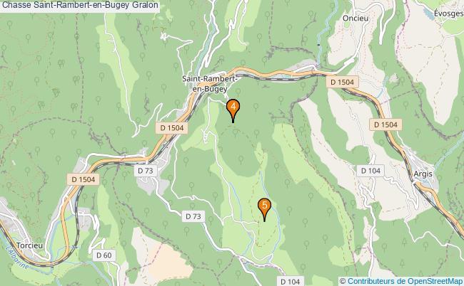 plan Chasse Saint-Rambert-en-Bugey Associations chasse Saint-Rambert-en-Bugey : 5 associations