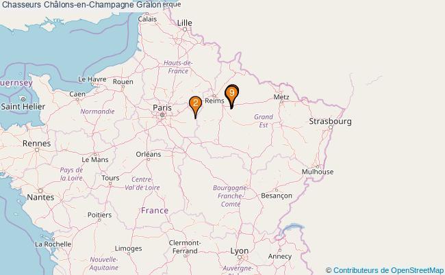 plan Chasseurs Châlons-en-Champagne Associations chasseurs Châlons-en-Champagne : 9 associations