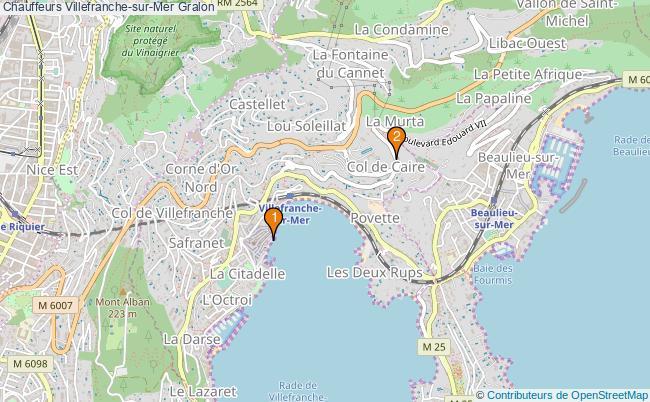plan Chauffeurs Villefranche-sur-Mer Associations Chauffeurs Villefranche-sur-Mer : 2 associations