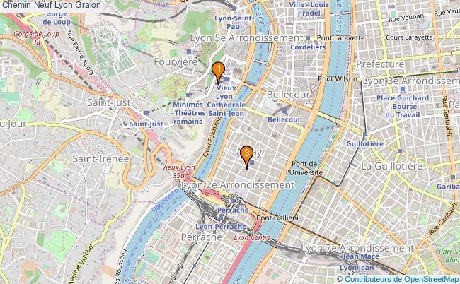 plan Chemin Neuf Lyon Associations Chemin Neuf Lyon : 3 associations