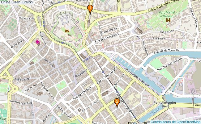 plan Chine Caen Associations Chine Caen : 2 associations