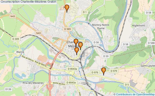 plan Circonscription Charleville-Mézières Associations circonscription Charleville-Mézières : 6 associations