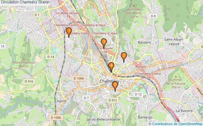 plan Circulation Chambéry Associations Circulation Chambéry : 6 associations