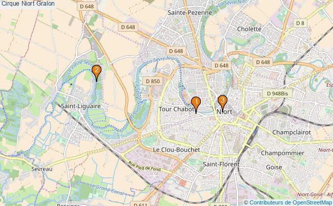 plan Cirque Niort Associations cirque Niort : 3 associations
