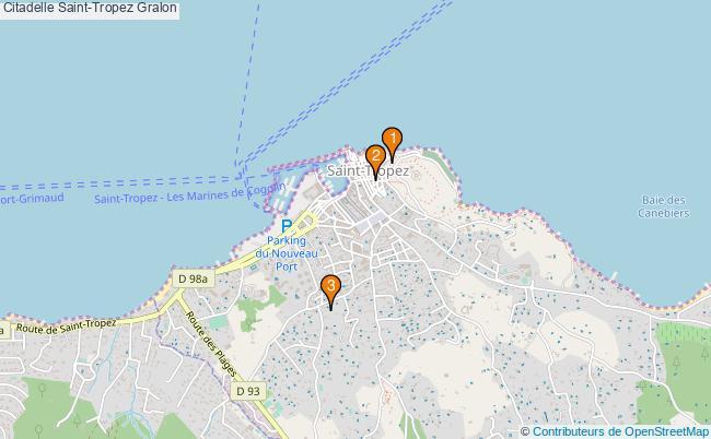 plan Citadelle Saint-Tropez Associations citadelle Saint-Tropez : 3 associations