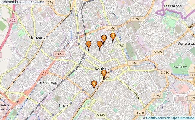 plan Civilisation Roubaix Associations civilisation Roubaix : 6 associations