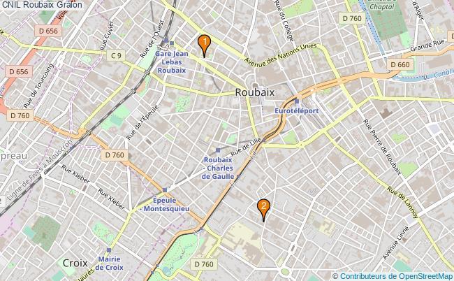 plan CNIL Roubaix Associations CNIL Roubaix : 2 associations