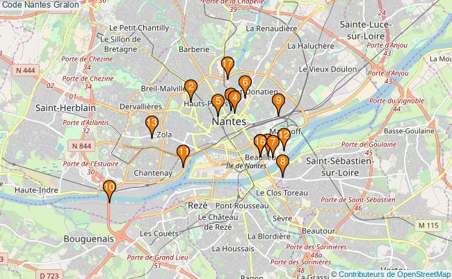 plan Code Nantes Associations code Nantes : 18 associations