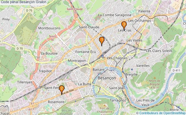 plan Code pénal Besançon Associations Code pénal Besançon : 3 associations