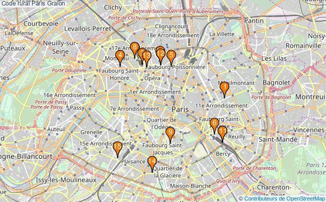 plan Code rural Paris Associations code rural Paris : 16 associations