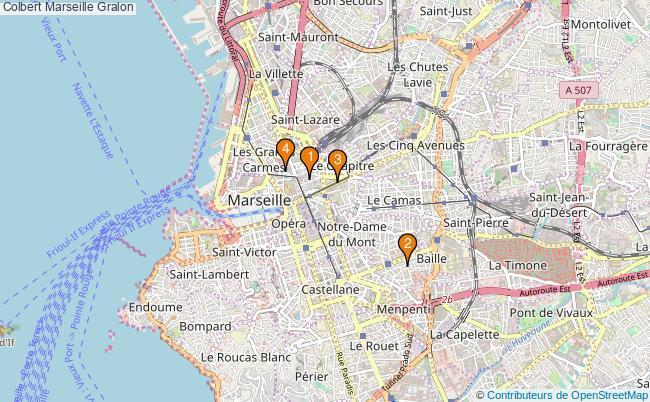 plan Colbert Marseille Associations Colbert Marseille : 4 associations