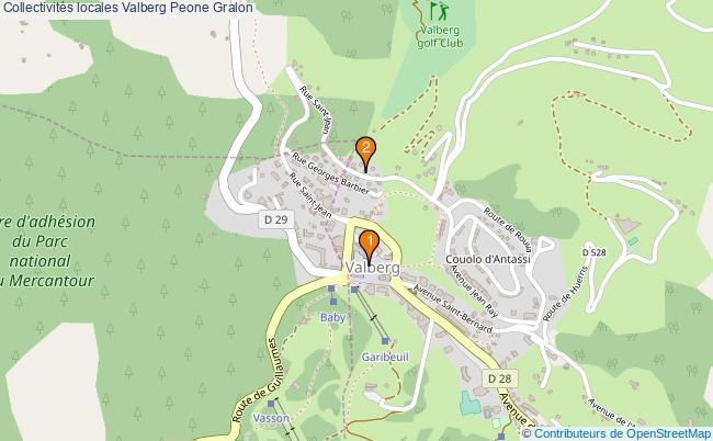 plan Collectivités locales Valberg Peone Associations collectivités locales Valberg Peone : 2 associations