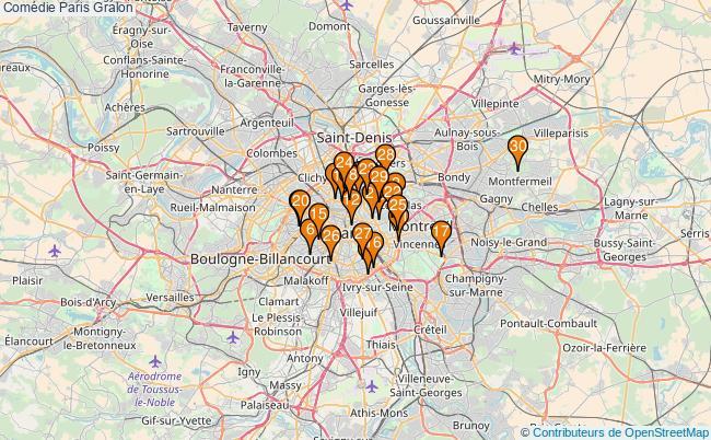 plan Comédie Paris Associations comédie Paris : 75 associations