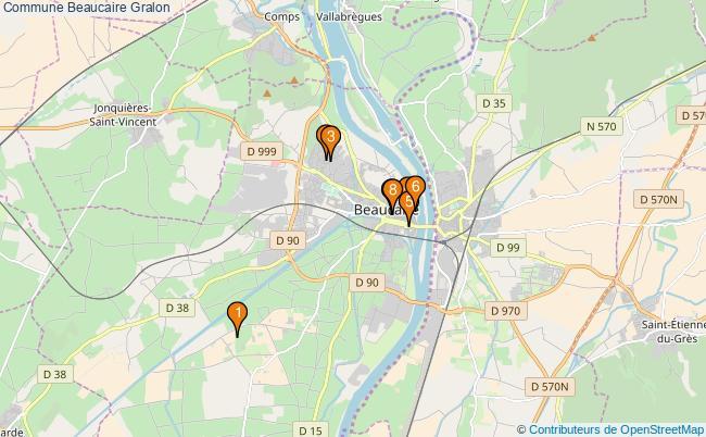plan Commune Beaucaire Associations commune Beaucaire : 8 associations