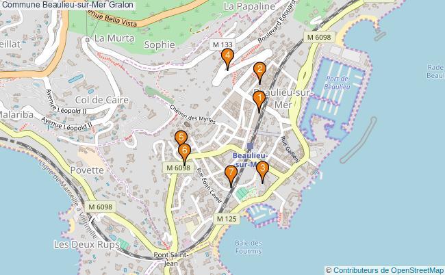 plan Commune Beaulieu-sur-Mer Associations commune Beaulieu-sur-Mer : 6 associations