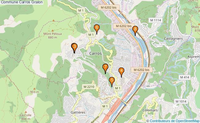 plan Commune Carros Associations commune Carros : 8 associations