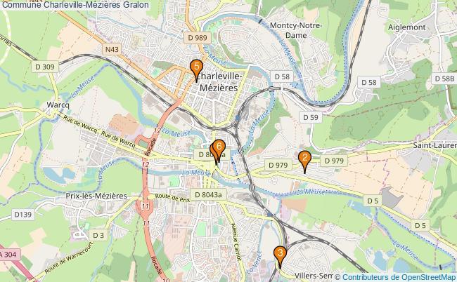 plan Commune Charleville-Mézières Associations commune Charleville-Mézières : 6 associations