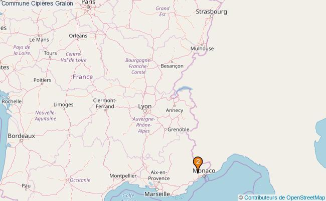 plan Commune Cipières Associations commune Cipières : 3 associations
