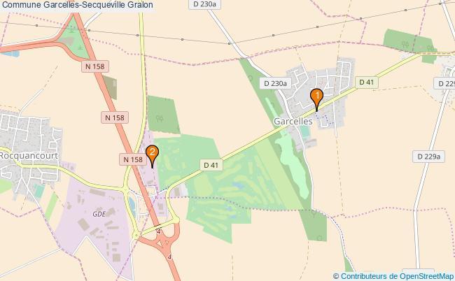 plan Commune Garcelles-Secqueville Associations commune Garcelles-Secqueville : 2 associations