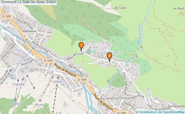 plan Commune La Salle les Alpes Associations commune La Salle les Alpes : 2 associations