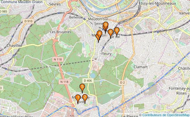 plan Commune Meudon Associations commune Meudon : 10 associations