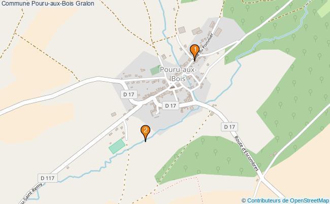 plan Commune Pouru-aux-Bois Associations commune Pouru-aux-Bois : 2 associations