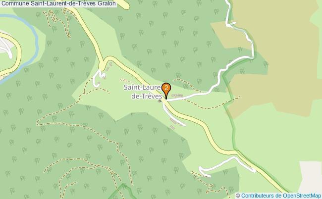 plan Commune Saint-Laurent-de-Trèves Associations commune Saint-Laurent-de-Trèves : 2 associations