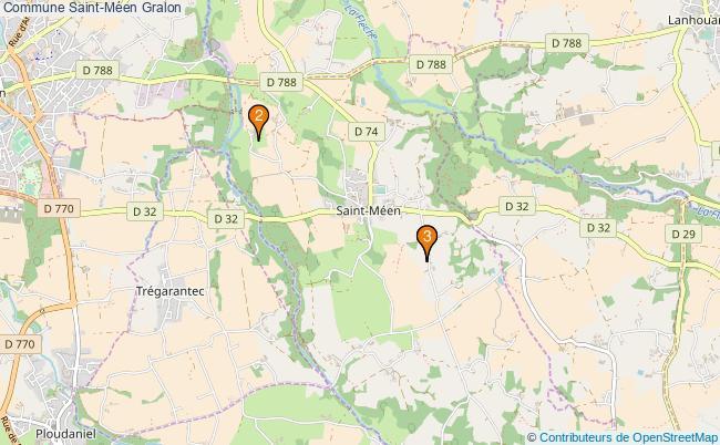 plan Commune Saint-Méen Associations commune Saint-Méen : 3 associations